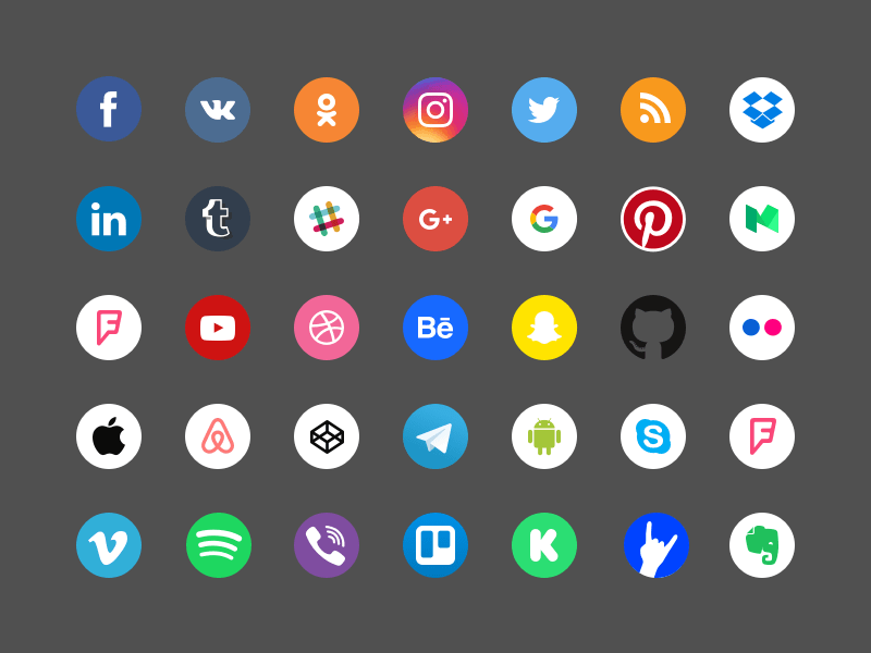 social-icons-set-v3-rengised